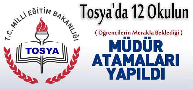 TOSYA'DA 12 OKULUN MÜDÜR ATAMALARI YAPILDI