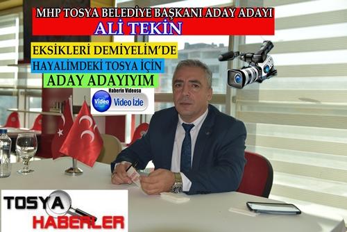 ALİ TEKİN MHP DEN ADAY ADAYLIĞINI AÇIKLADI..