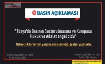 """TOSYA'DA BASIN ÖZGÜRLÜĞÜ HUKUK YOLUYLA TESCİLLENDİ """"GÖZLER ANKARA'YA ÇEVRİLDİ"""""""