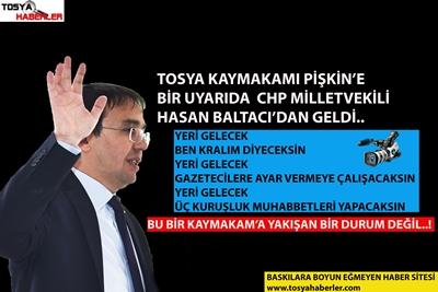 TOSYA KAYMAKAMI PİŞKİN'E BİR TEPKİDE CHP MİLLETVEKİLİ BALTACI'DAN GELDİ..