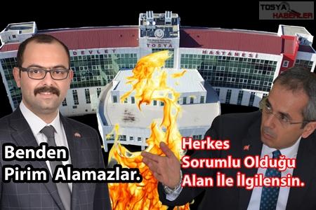 """TOSYA DEVLET HASTANESİ   """"  SORUNU""""…!"""