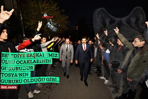 """ÜLKÜ OCAKLARI BAŞKANI Dr.SİNAN ATEŞ TOSYA ZİYARETİ """" VOLKAN BAŞKAN  GURURUMUZ """".."""