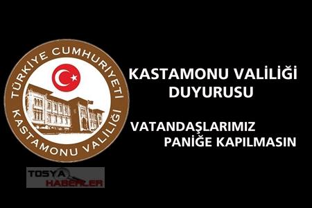 KASTAMONU VALILIGİNDEN DUYURU..