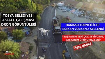HAMAS MAHALLESİ ASFALT ÇALIŞMASI DRON ÇEKİMİ VE HAMAS'LI SAKİNLERİN TORNET EĞLENCESİ..